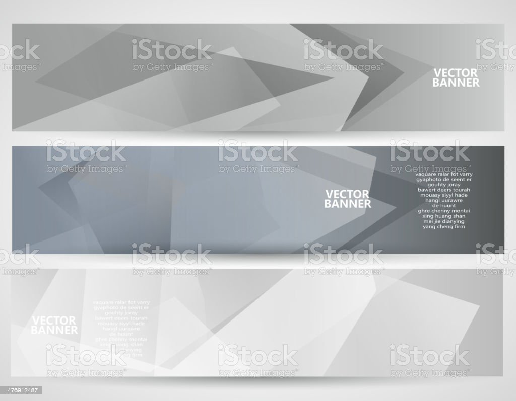 abstract gray transparency pattern banner background vector art illustration