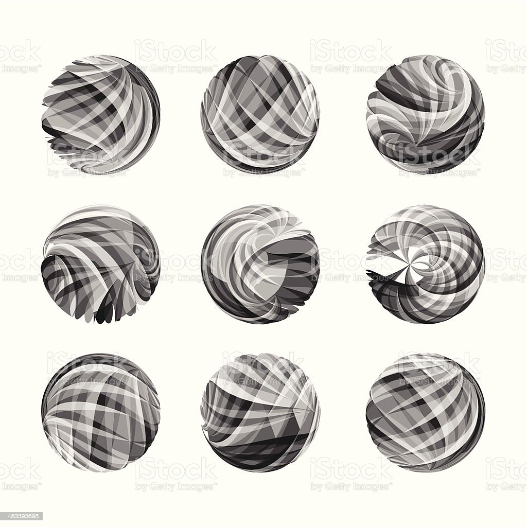 abstract gray transparency round pattern vector art illustration