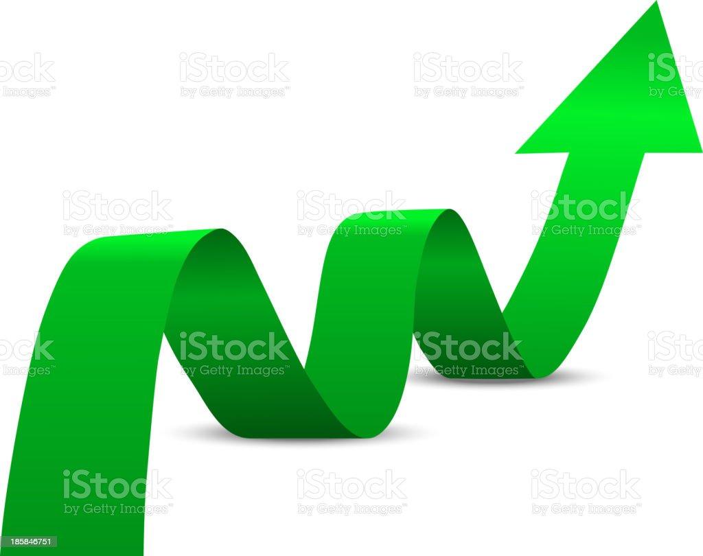 Abstract Green Arrow Up royalty-free stock vector art