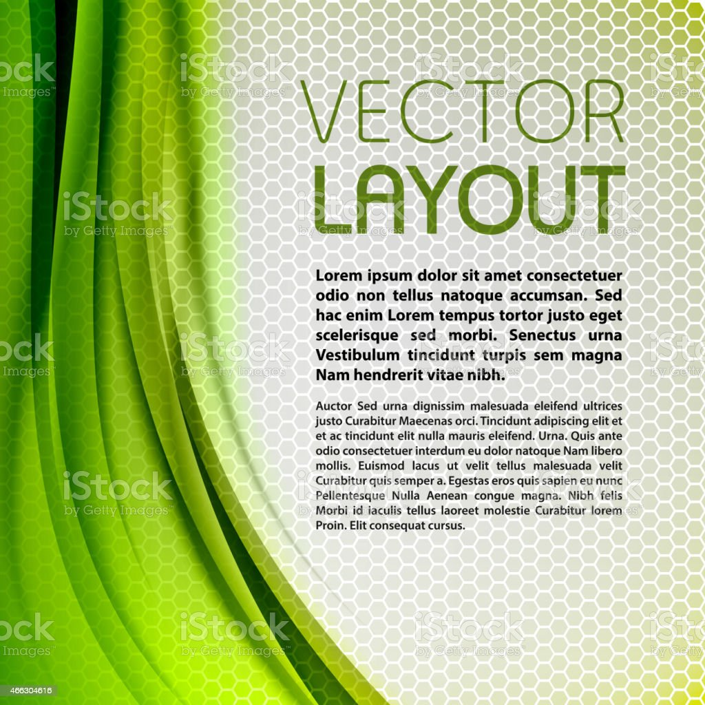 Abstract green background vector layout vector art illustration
