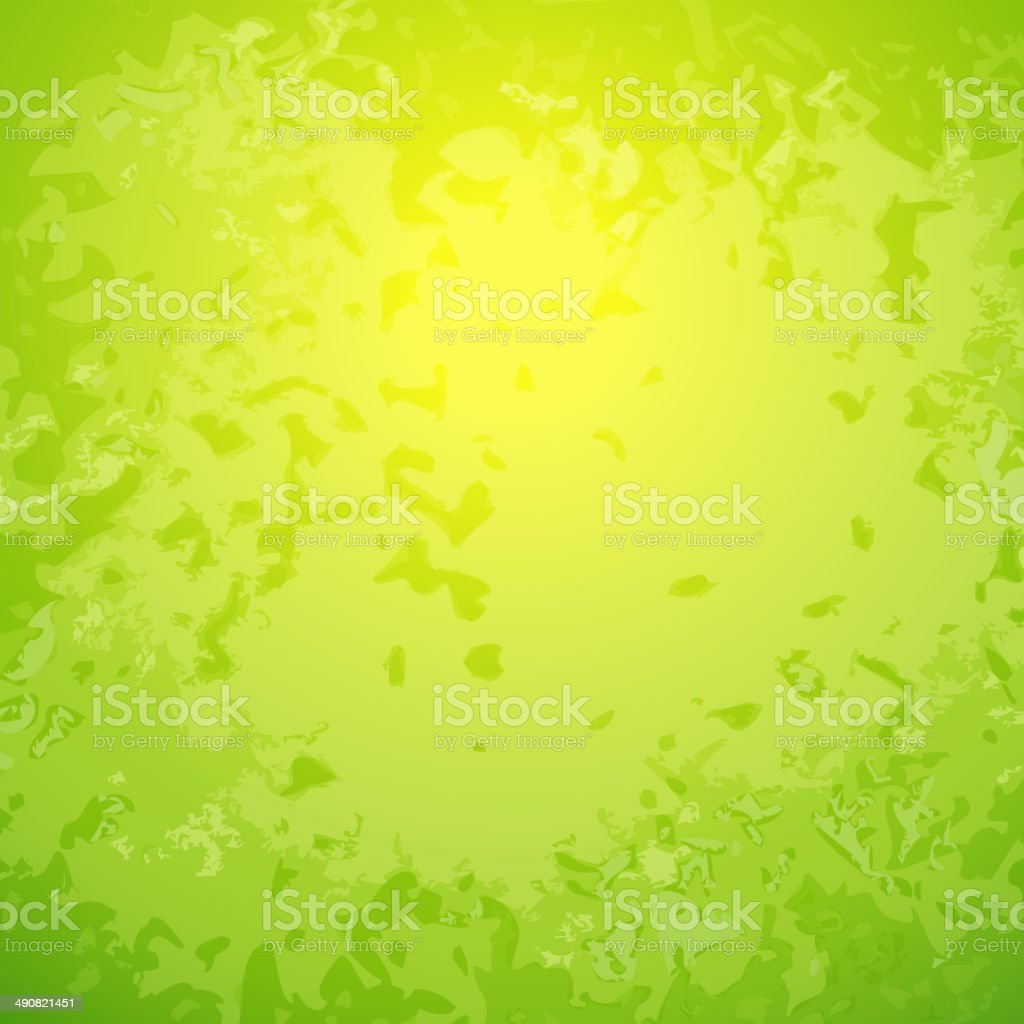 Abstract green background with bright center spotlight and dark royalty-free stock vector art