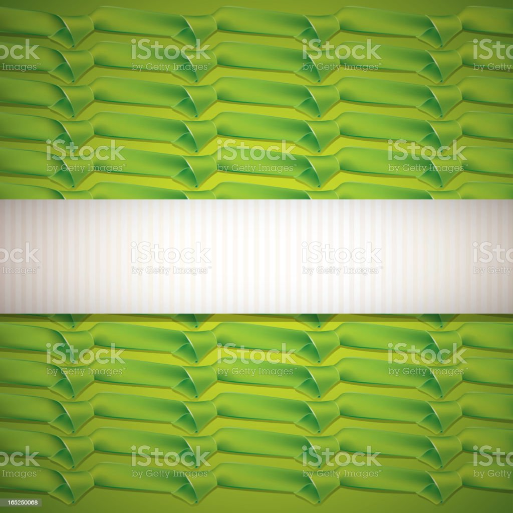 abstract green background with ribbons royalty-free stock vector art