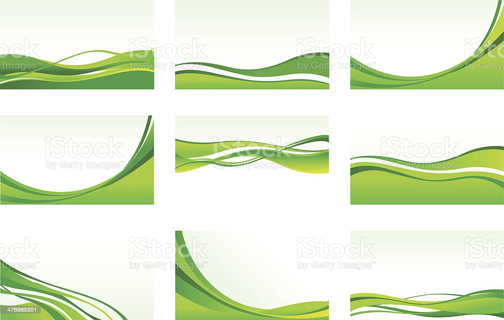 abstract green backgrounds vector art illustration