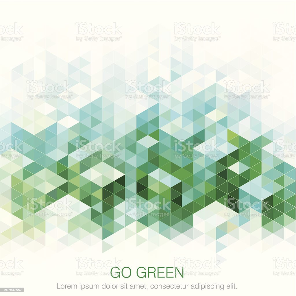 Abstract Green backgrounds. vector art illustration