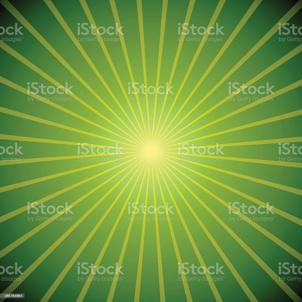 Abstract green burst background. vector art illustration