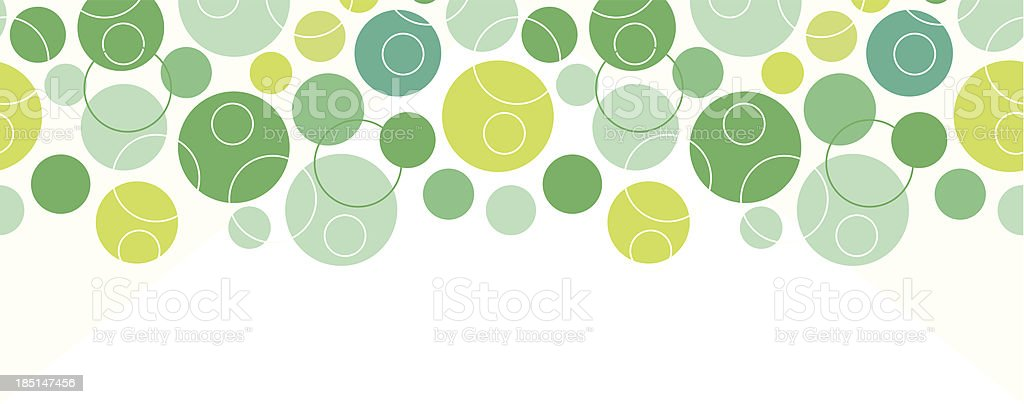 Abstract green circles seamless pattern background horizontal border royalty-free stock vector art