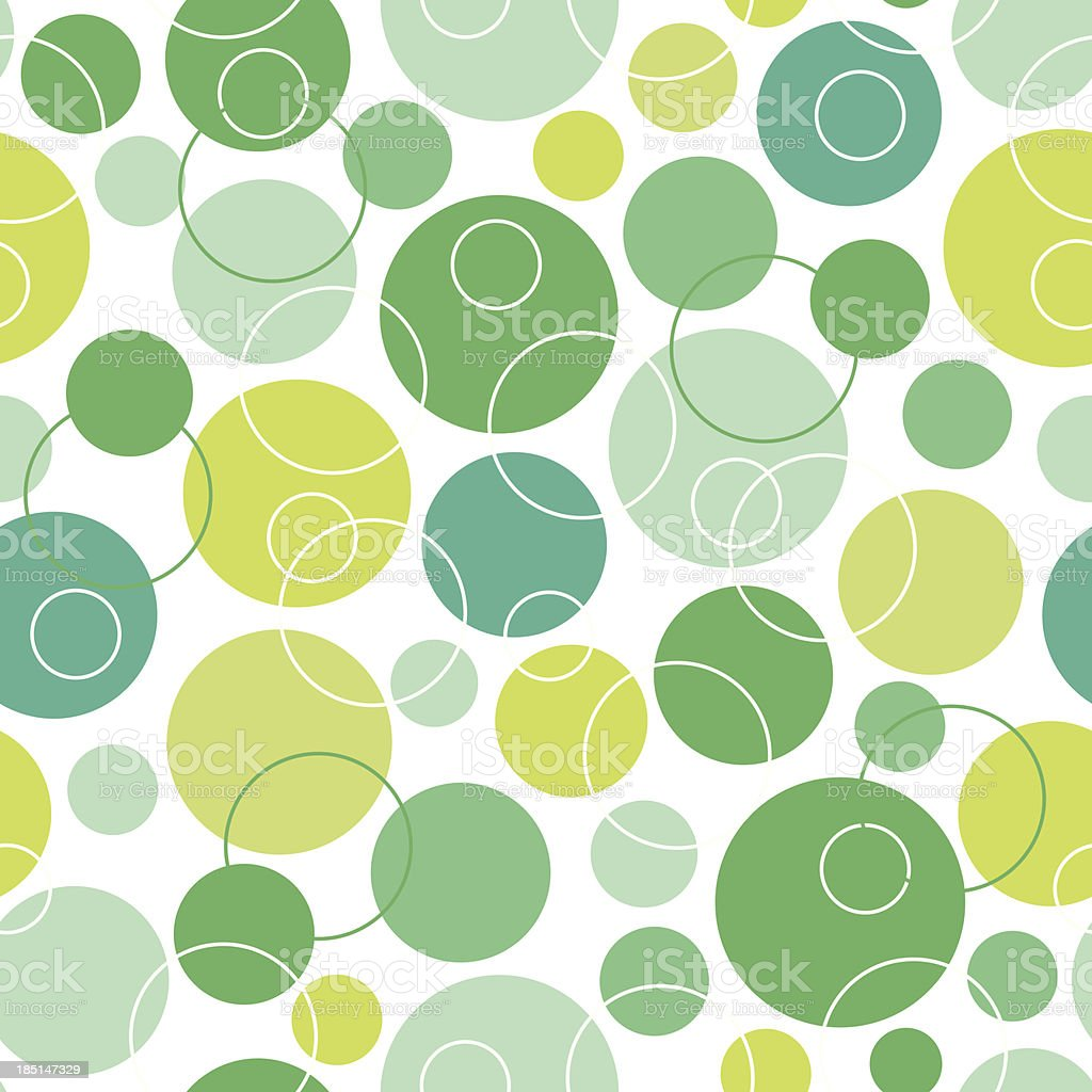 Abstract green circles seamless pattern background royalty-free stock vector art