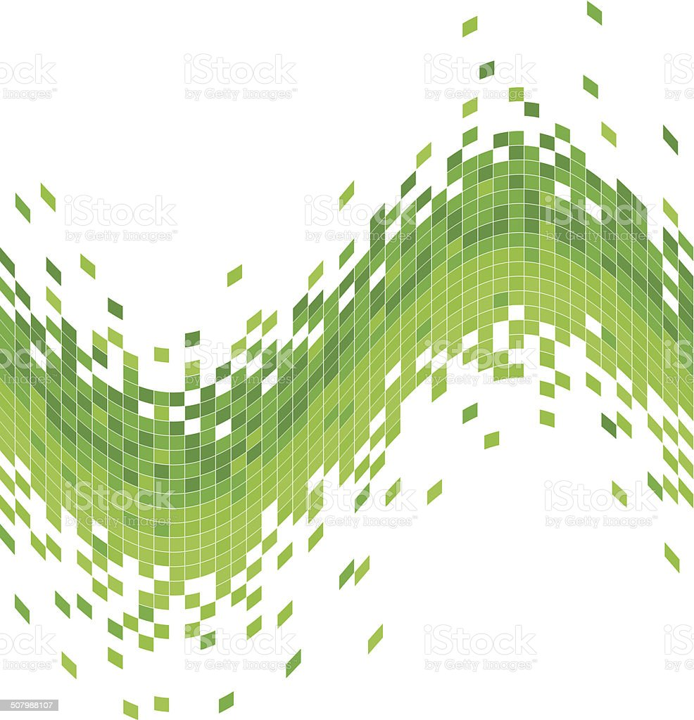 abstract green data flowing concept background vector art illustration