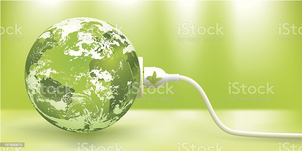 abstract green Earth energy concept vector art illustration