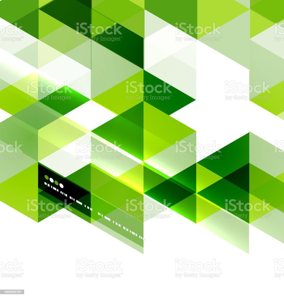 Abstract green mosaic background royalty-free stock vector art