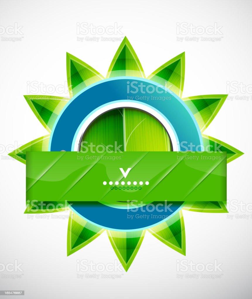 Abstract green nature symbol royalty-free stock vector art