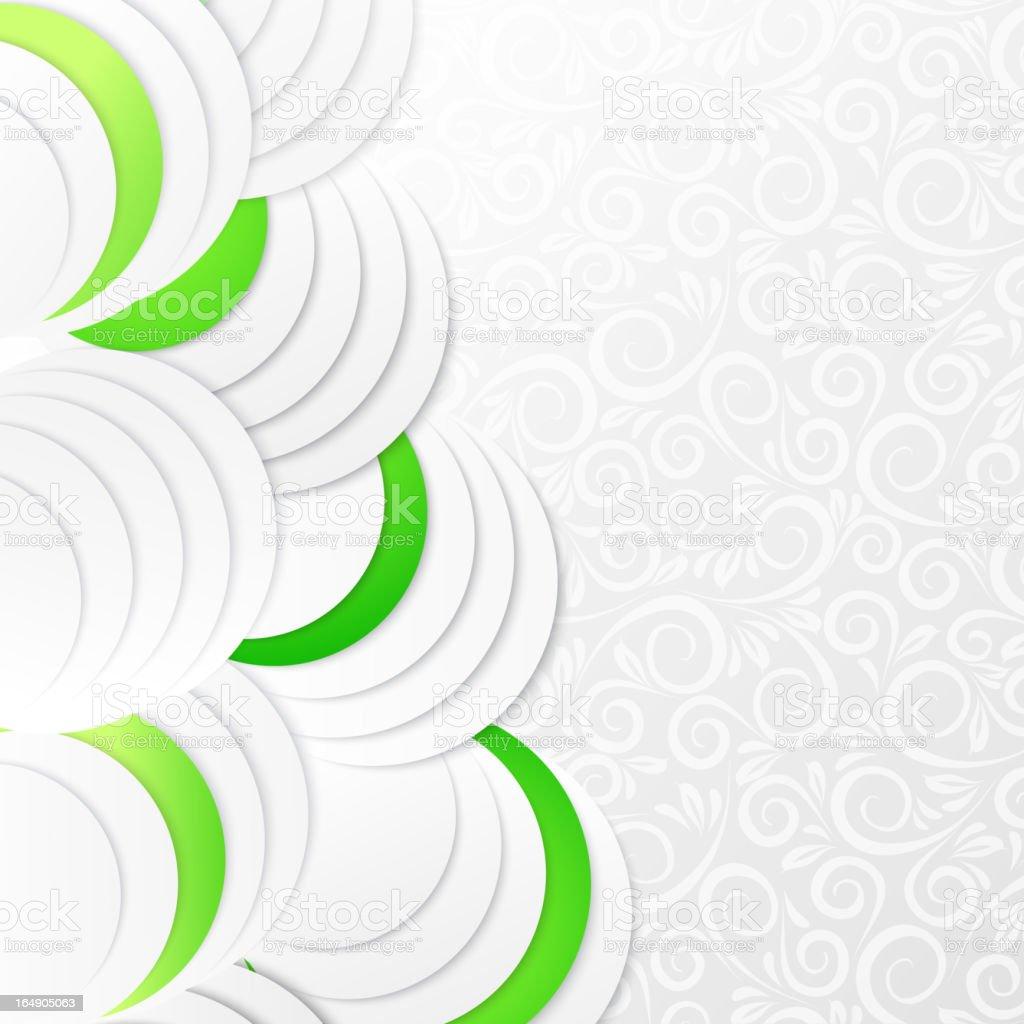 Abstract green paper circles royalty-free stock vector art