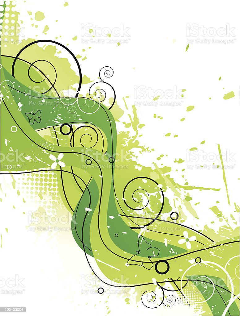 Abstract green stripes royalty-free stock vector art