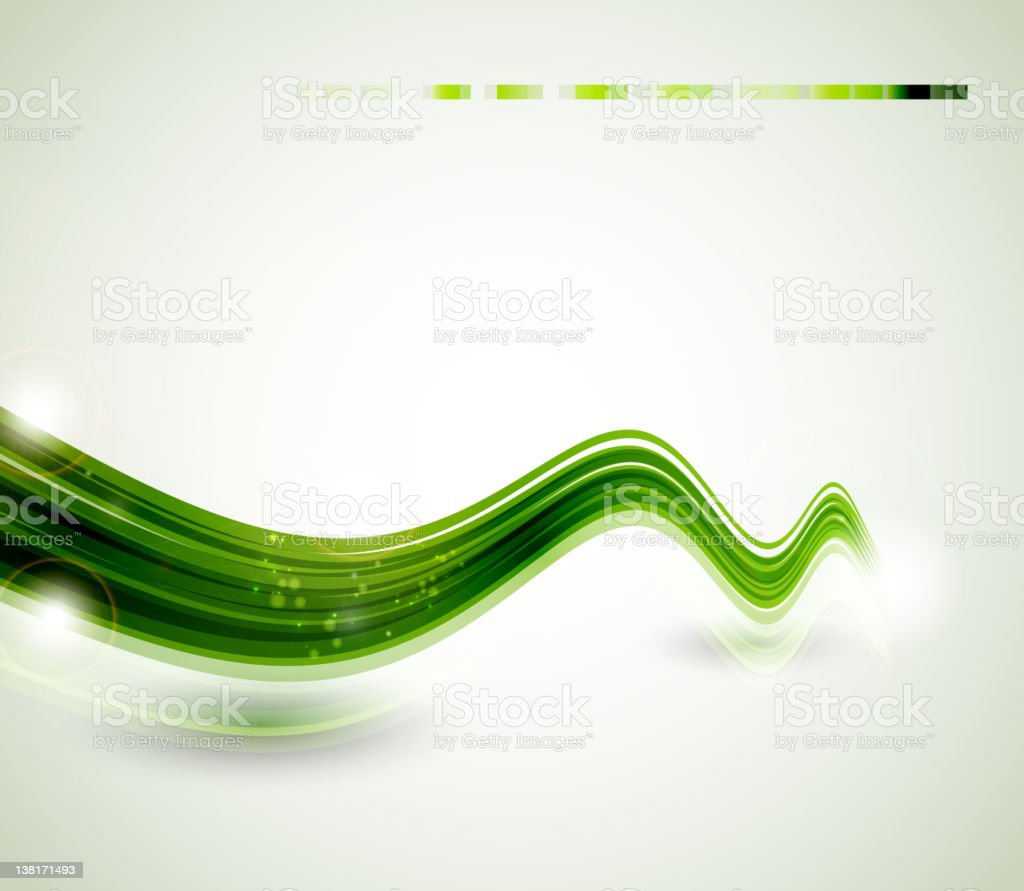abstract  green  swift line royalty-free stock vector art