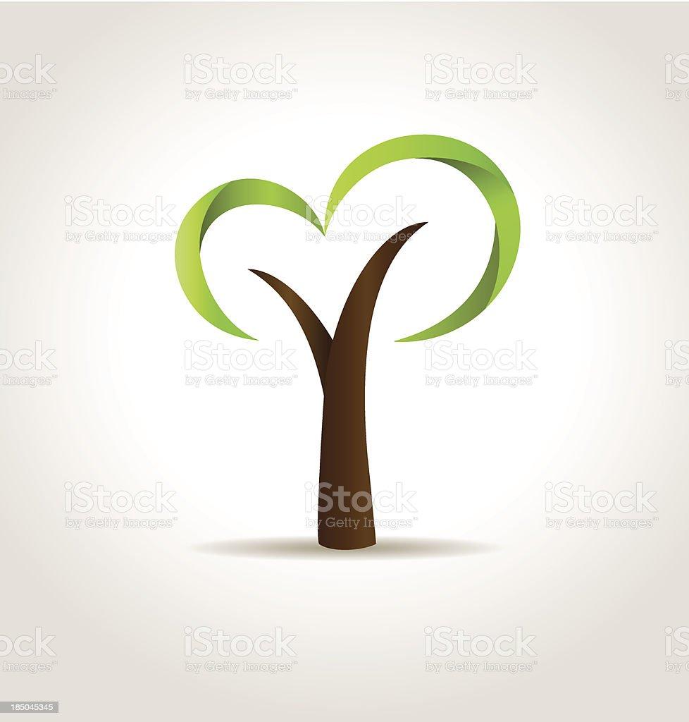 Abstract green tree. Vector eco creative concept royalty-free stock vector art