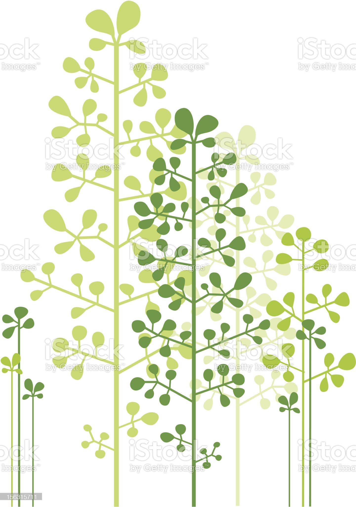 abstract green trees royalty-free stock vector art