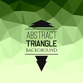 Abstract green triangle pattern