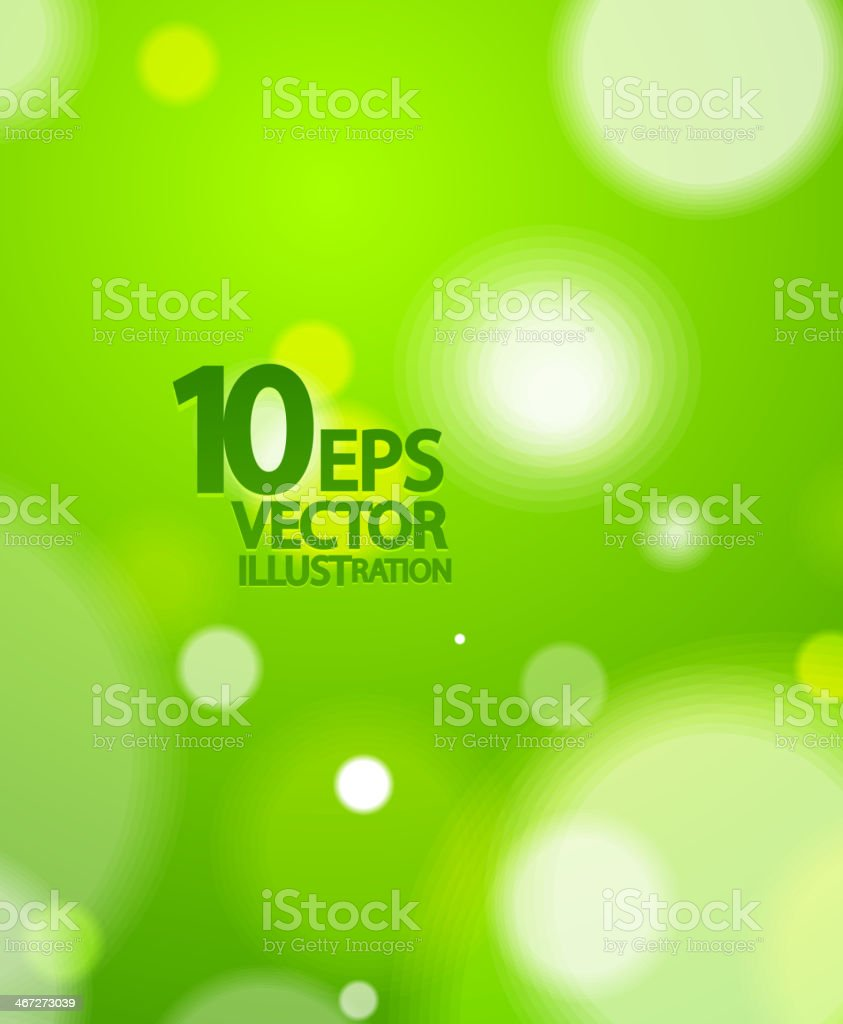 Abstract green vector with blurred green background vector art illustration