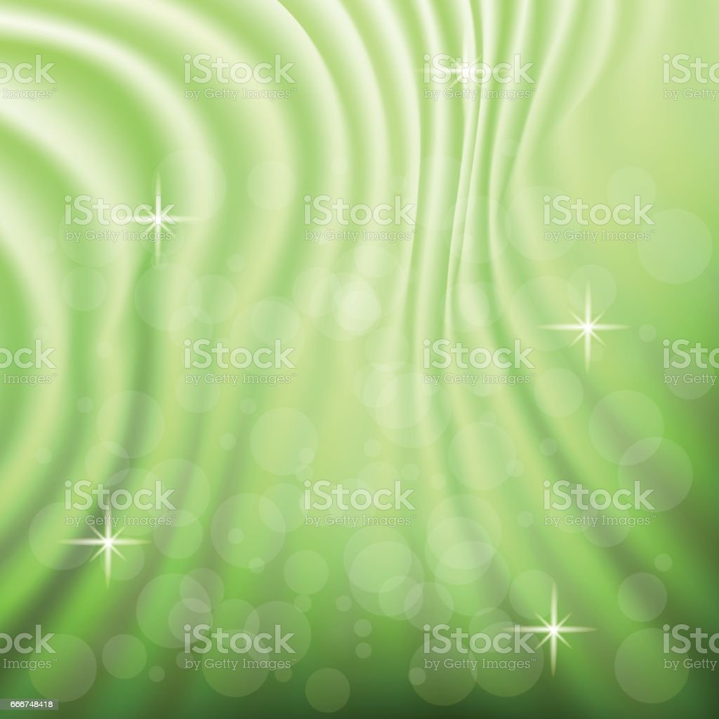 abstract green wave background vector art illustration