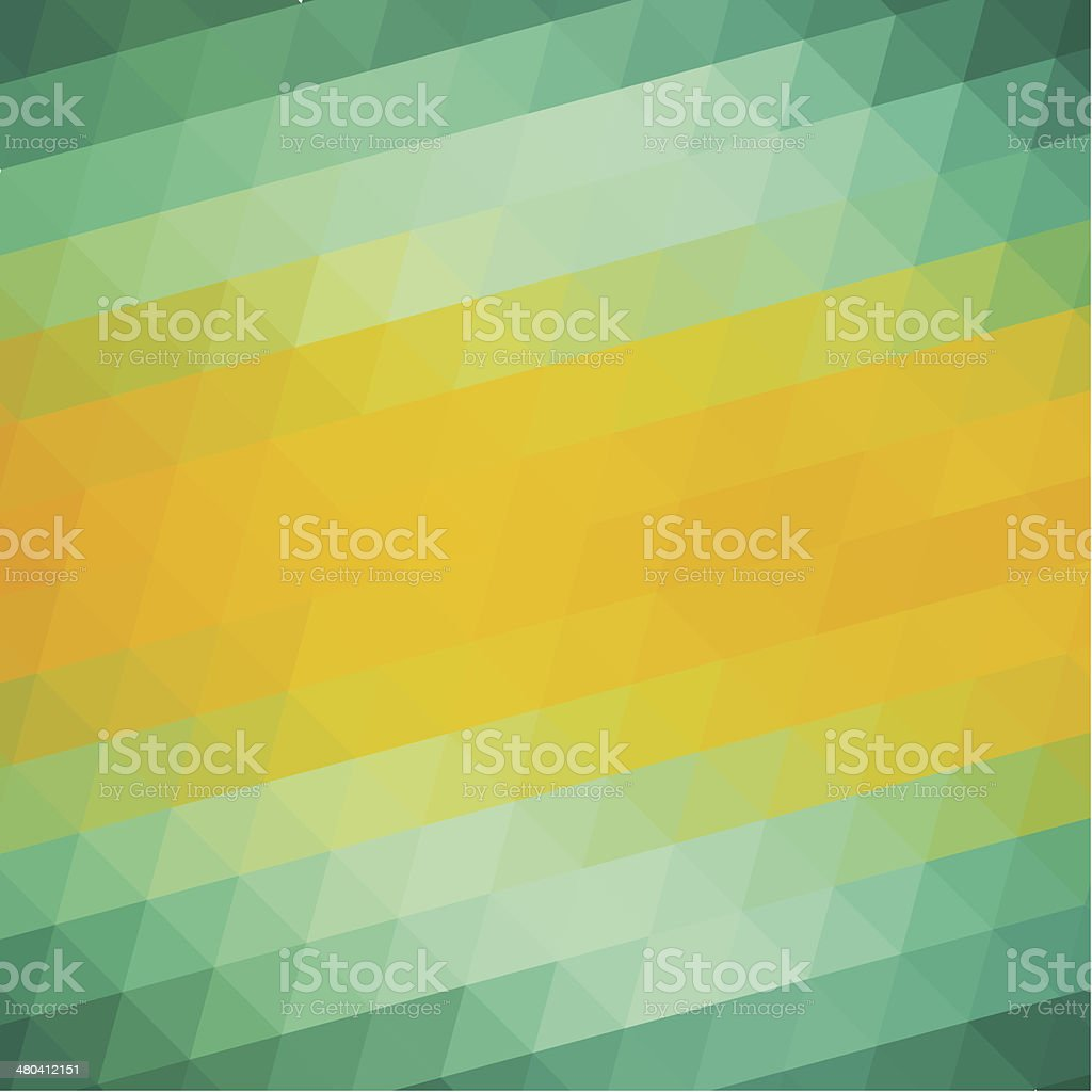 Abstract Green Yellow Triangle Background vector art illustration