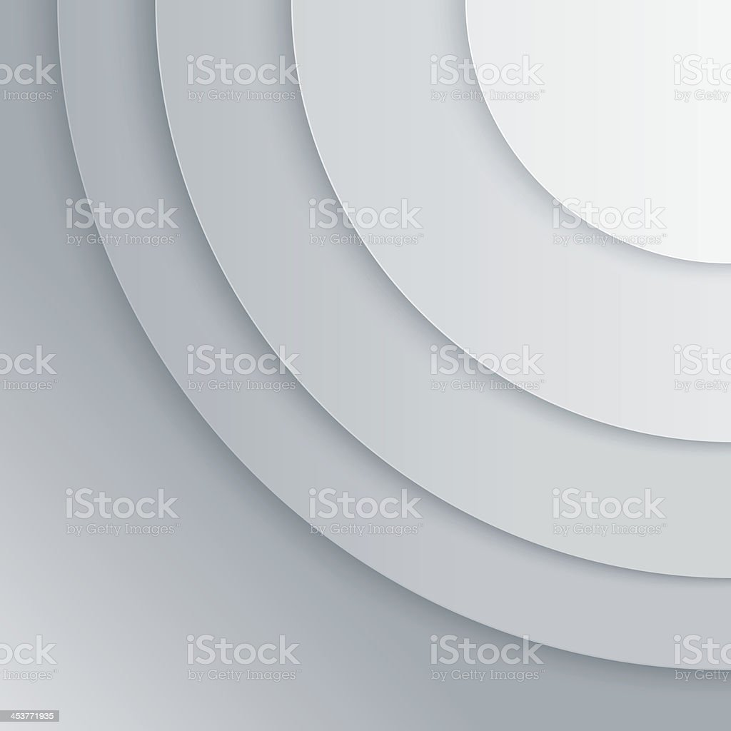 Abstract grey paper circles vector background royalty-free stock vector art