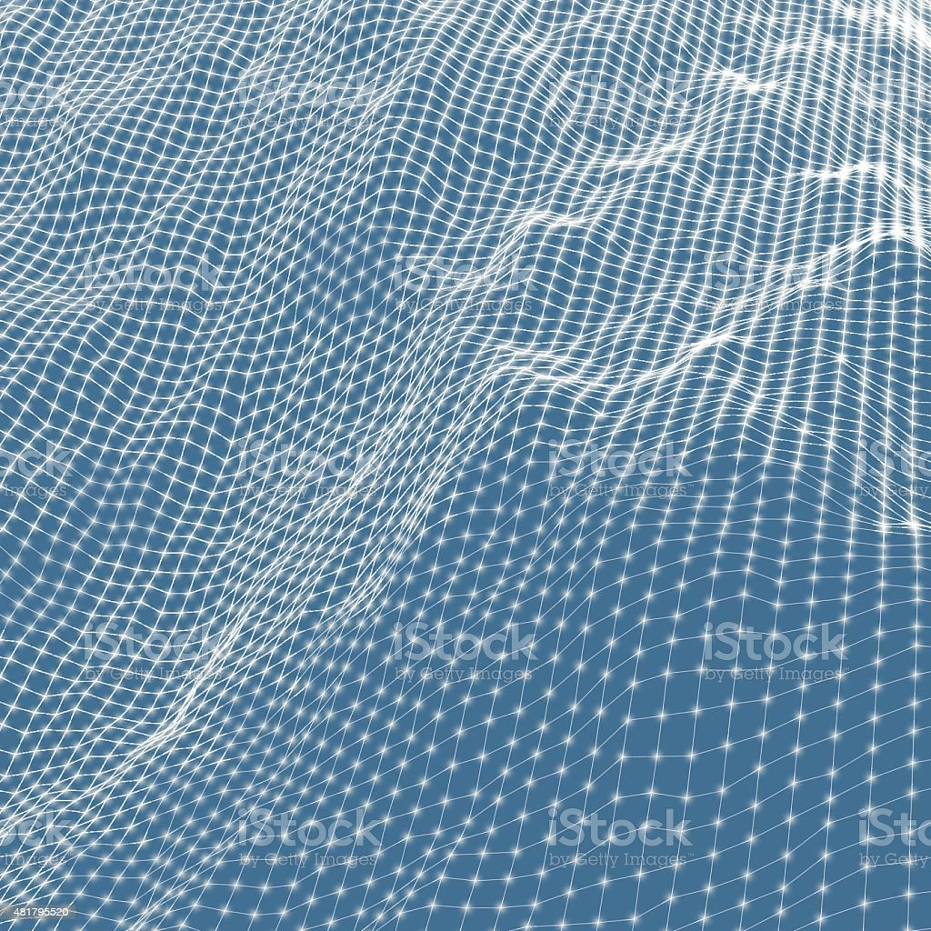 Abstract grid background. Water surface. Vector illustration. vector art illustration