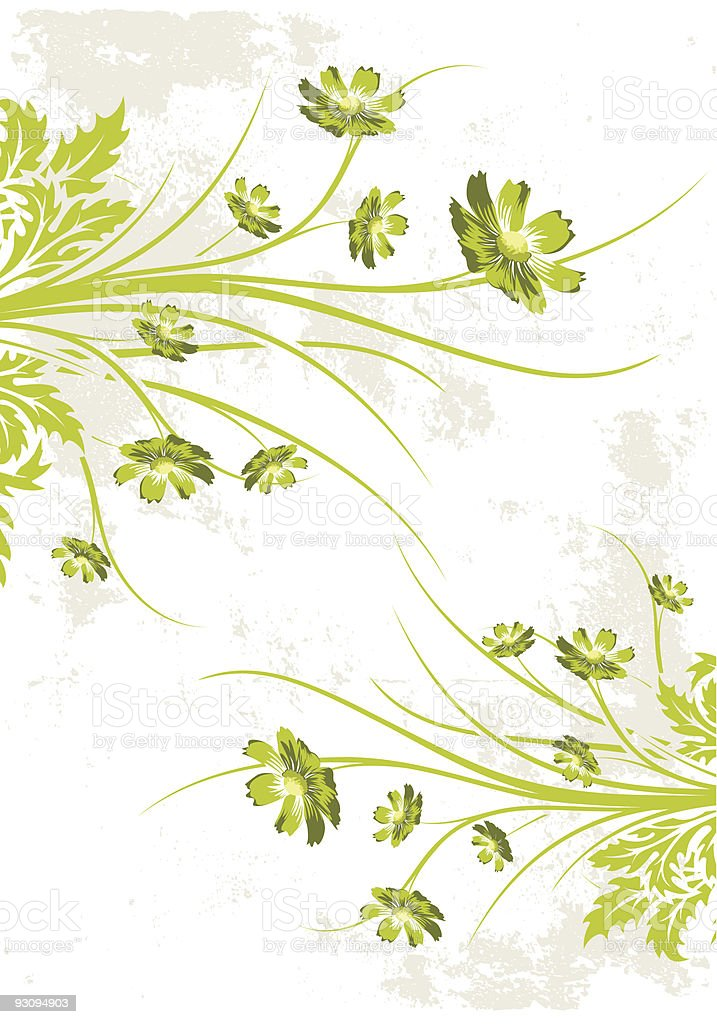 Abstract Grunge Floral Background royalty-free stock vector art