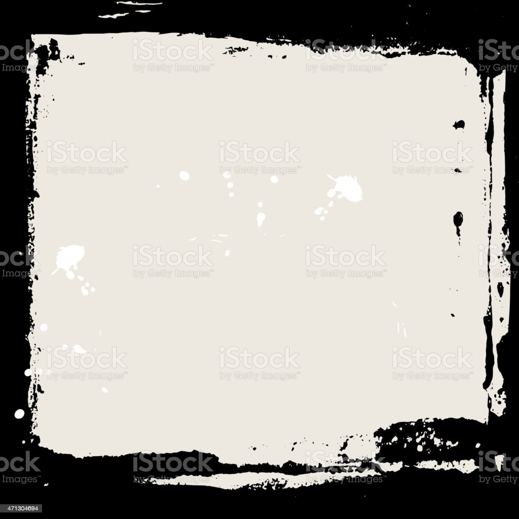 Abstract grunge frame. Black and beige Background template. Vector vector art illustration
