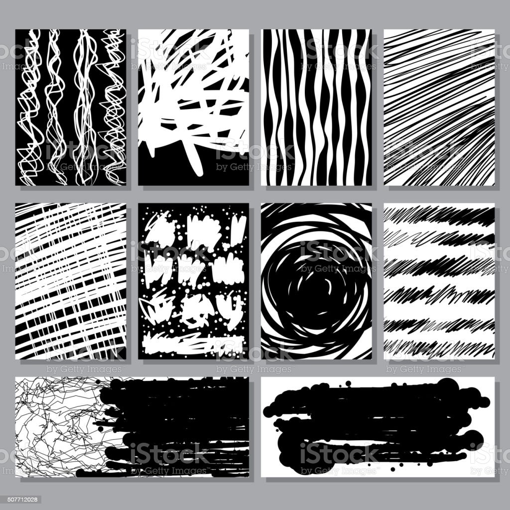 Abstract grunge textures collection vector art illustration