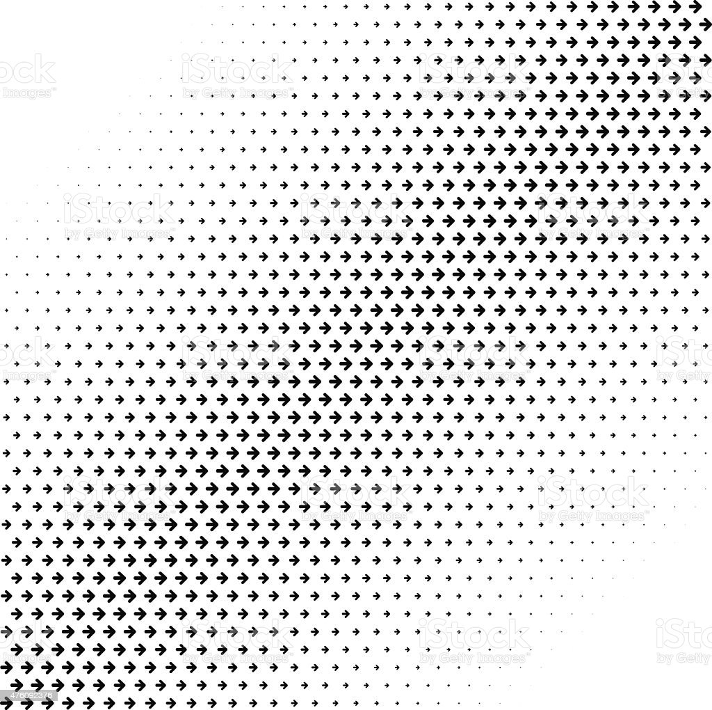 Abstract Halftone Arrows Background vector art illustration