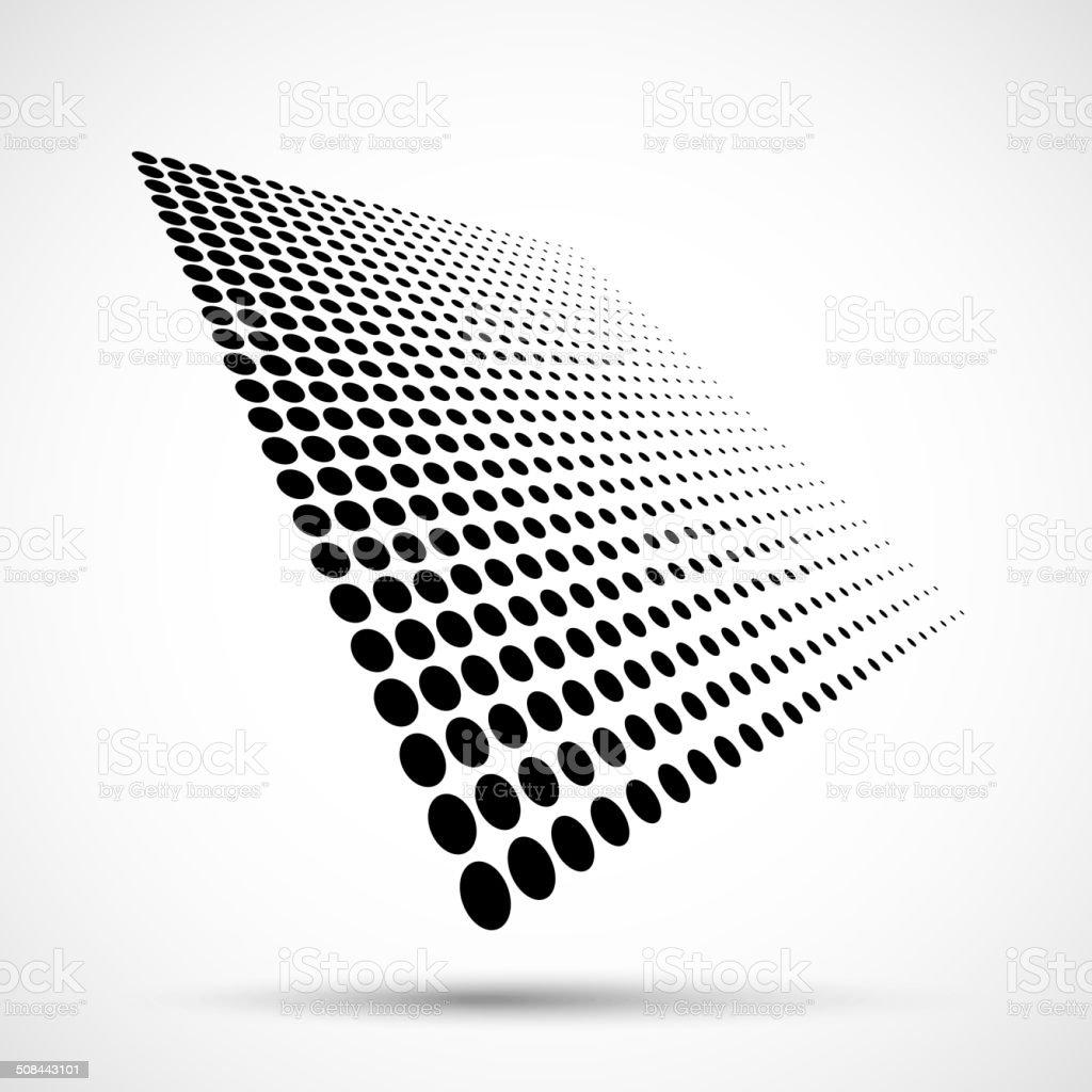 Abstract Halftone Design Element vector art illustration