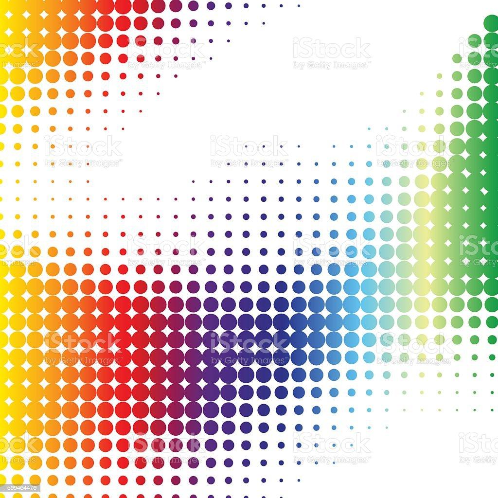 abstract halftone pattern vector art illustration