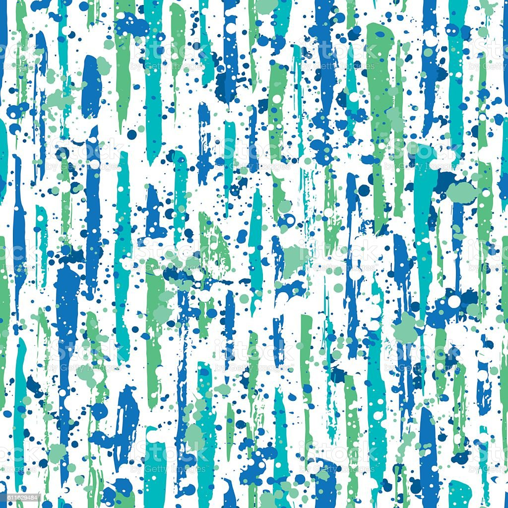 Abstract hand drawn brush strokes and paint splashes textures vector art illustration