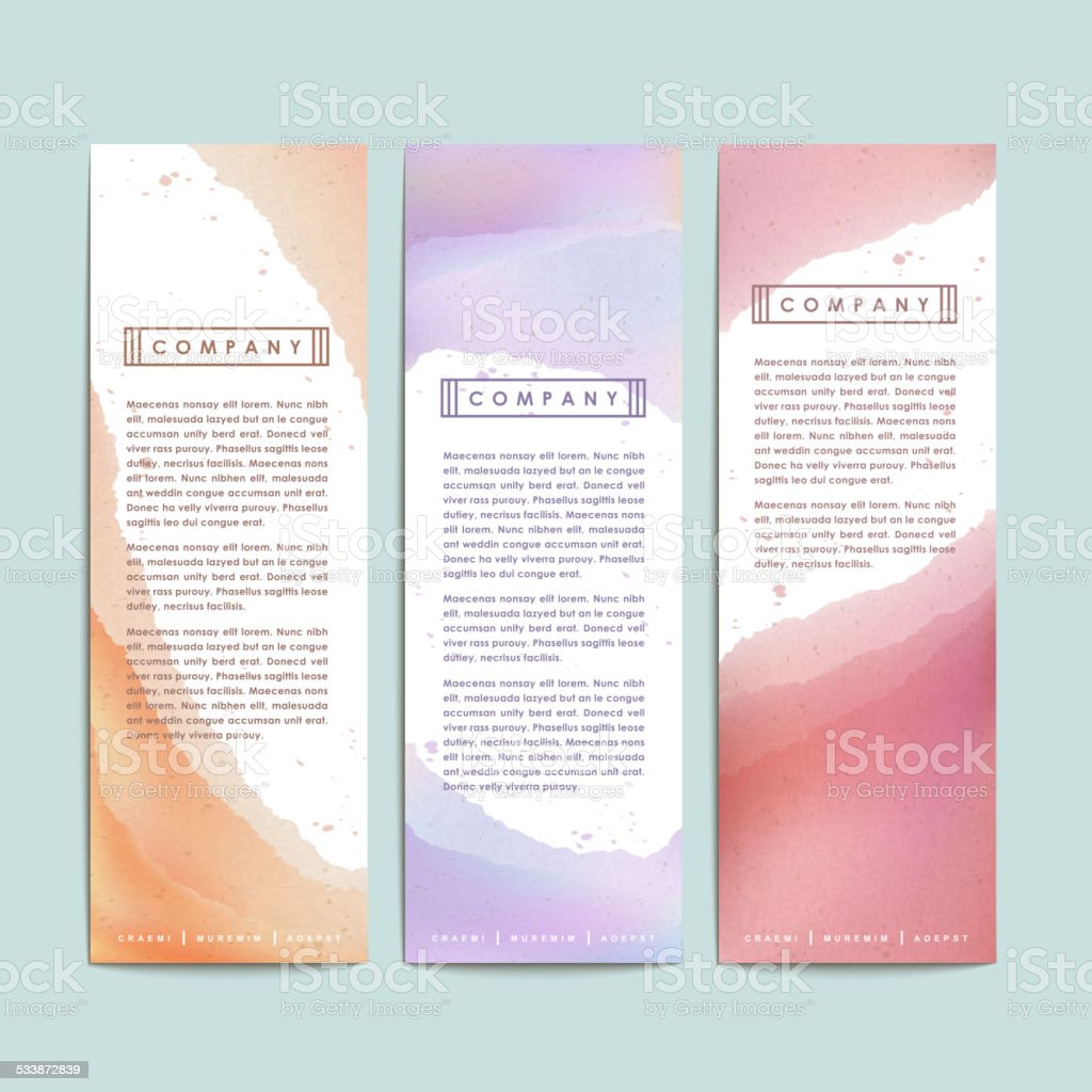 abstract hand painted watercolor background for banners vector art illustration