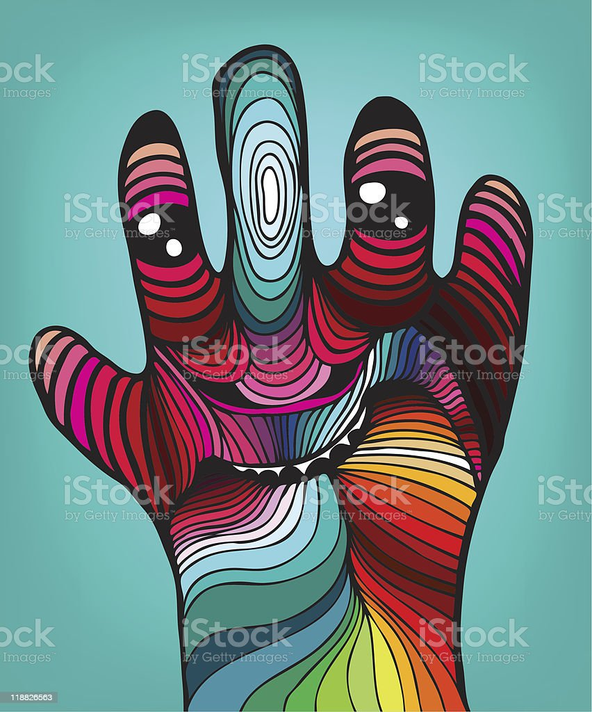 abstract hand royalty-free stock vector art