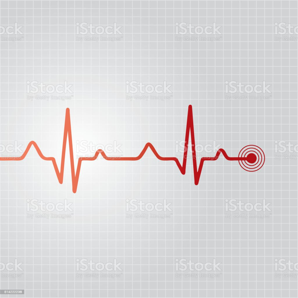 Abstract heart beats cardiogram illustration vector art illustration