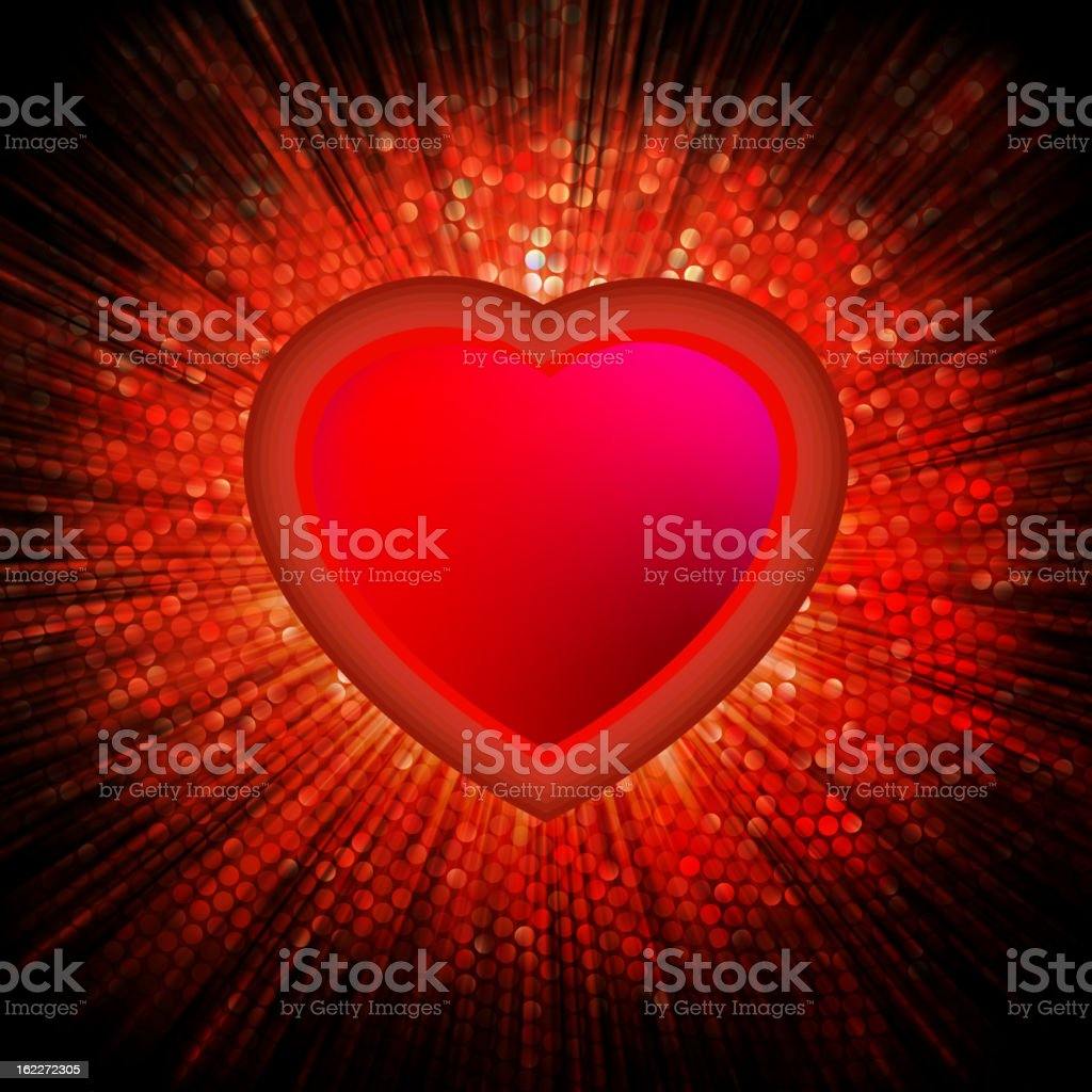 Abstract Heart Burst Background. EPS 8 royalty-free stock vector art