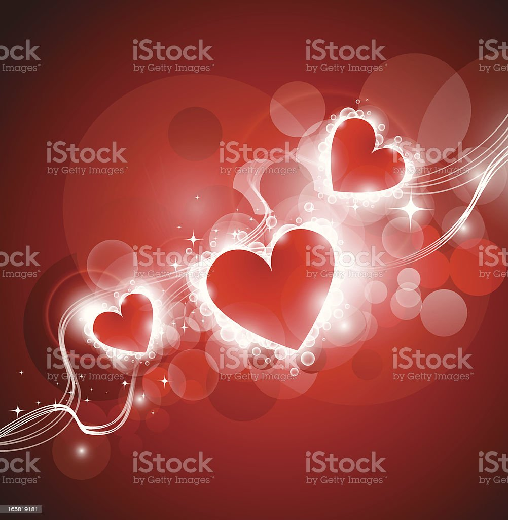 Abstract heart shapes royalty-free stock vector art