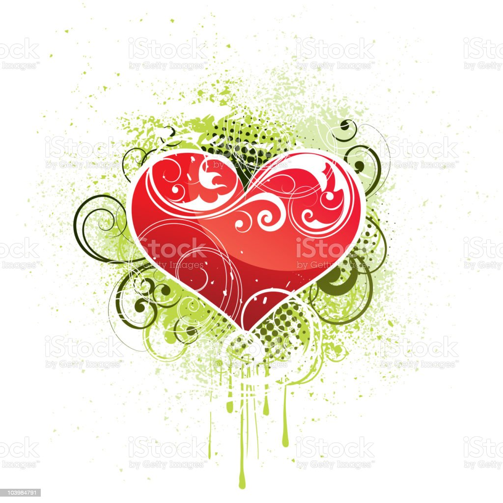 Abstract heart royalty-free stock vector art