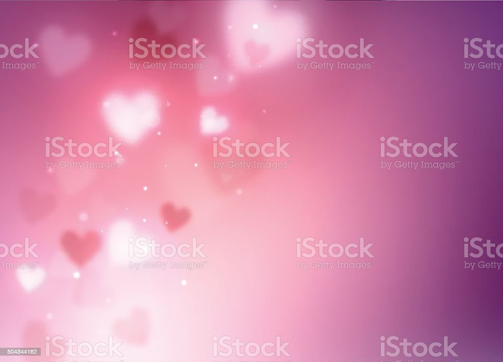 Abstract hearts background vector art illustration
