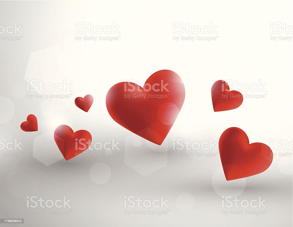 Abstract hearts royalty-free stock vector art
