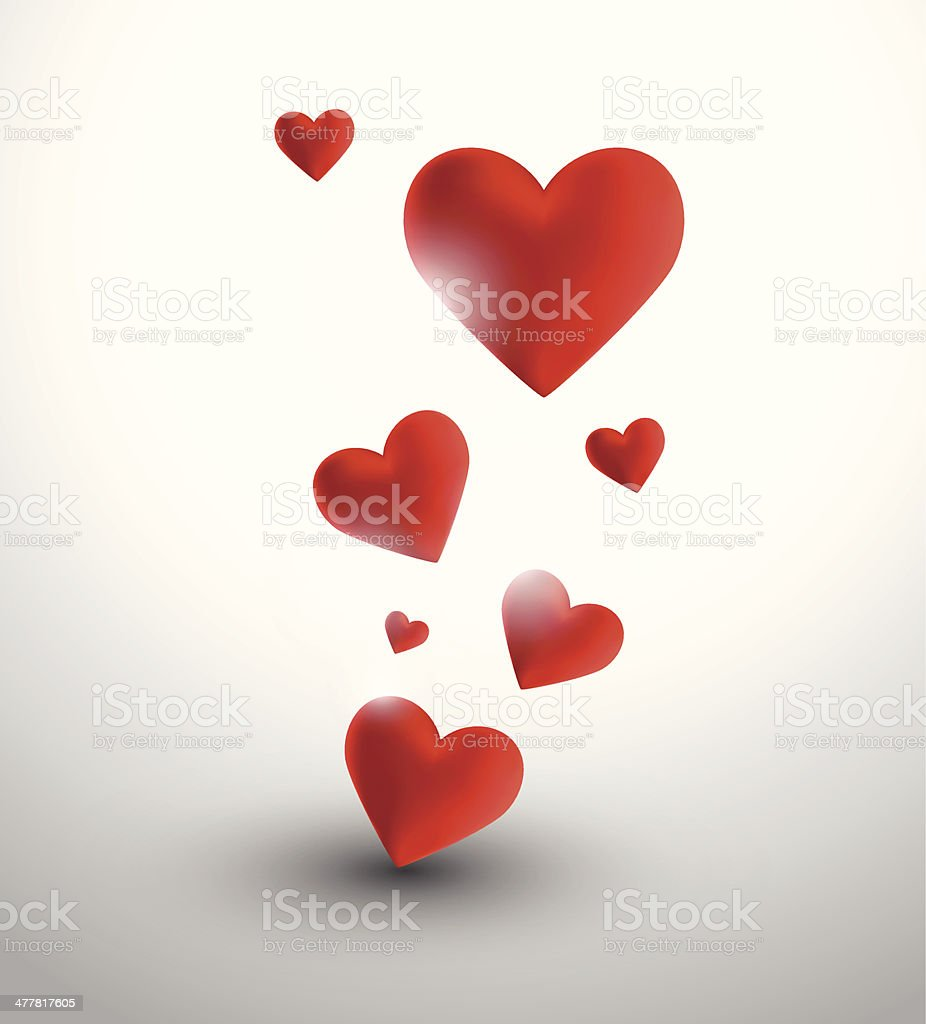 Abstract hearts royalty-free stock vector art