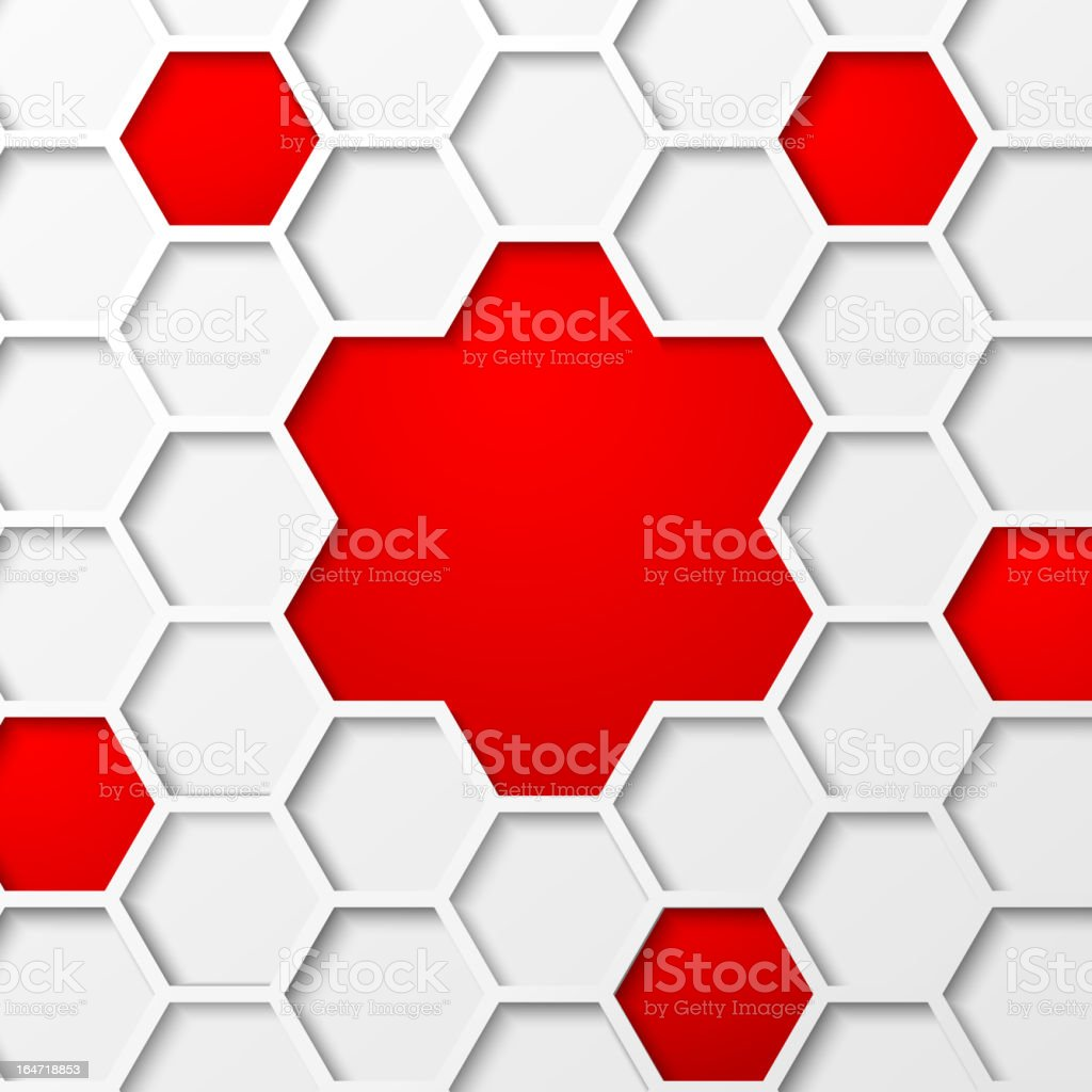 Abstract hexagon background. royalty-free stock vector art