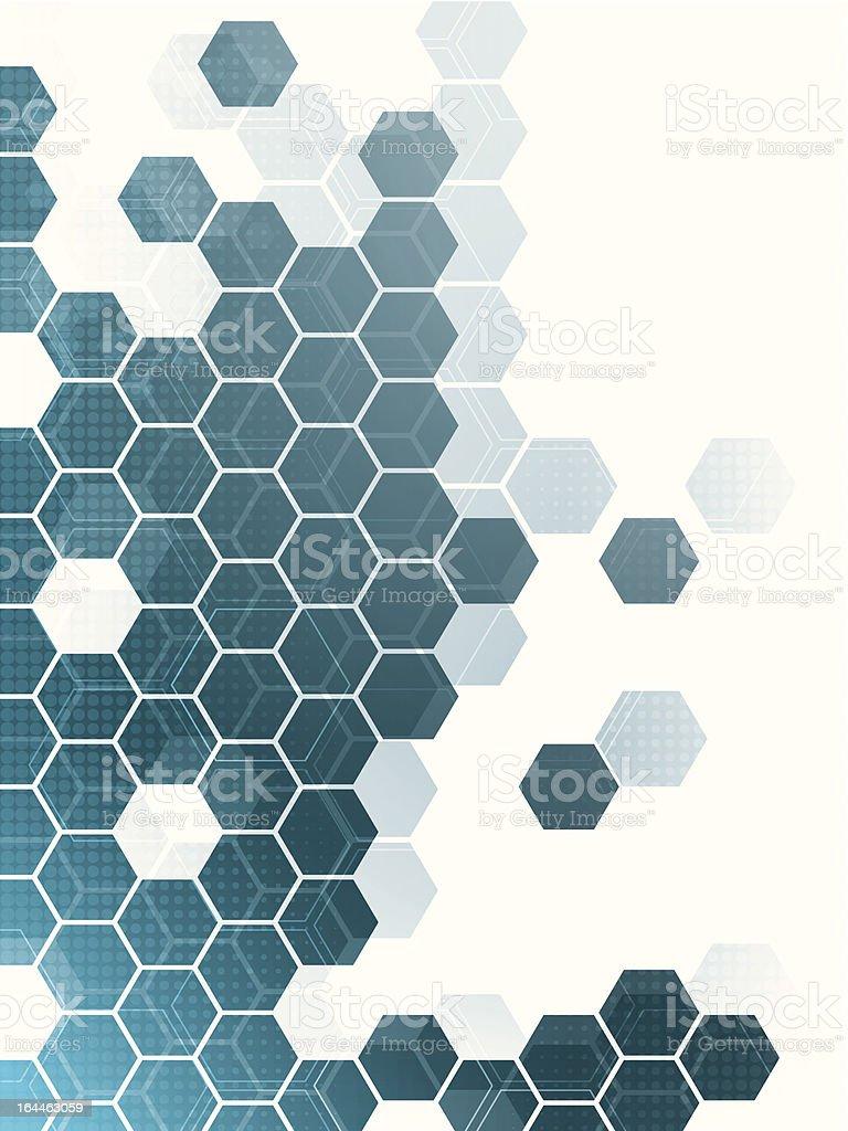 Abstract hexagon patterned background royalty-free stock vector art