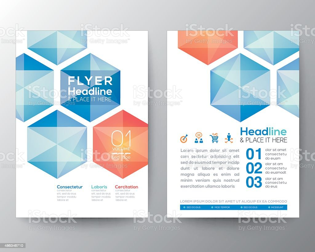 Poster design free template - Abstract Hexagon Poster Brochure Flyer Design Template Layout Royalty Free Stock Vector Art
