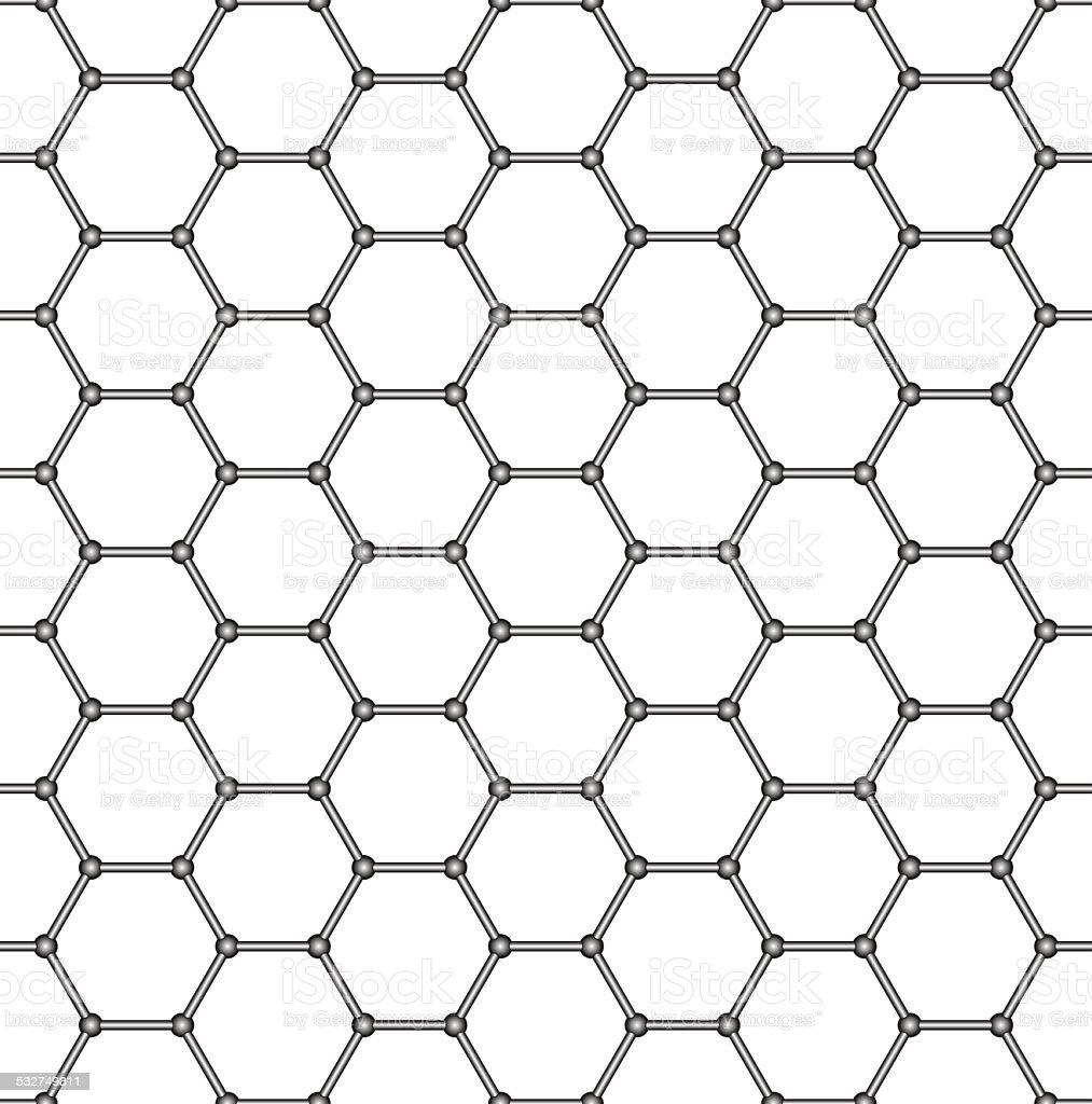 Abstract hexagonal pattern vector art illustration