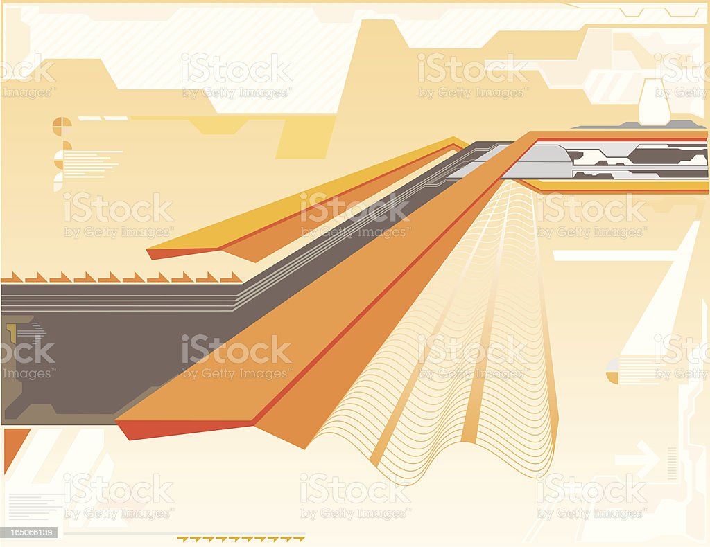 Abstract Hightech royalty-free stock vector art