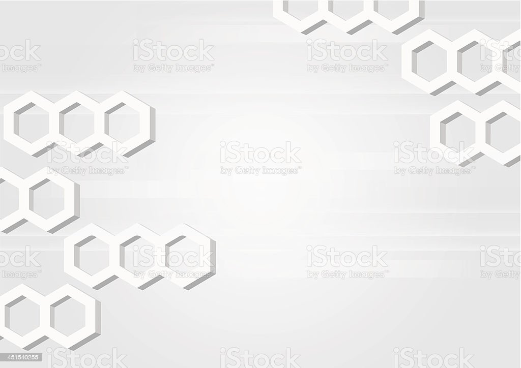 Abstract horizontal grey background with hexagons. royalty-free stock vector art