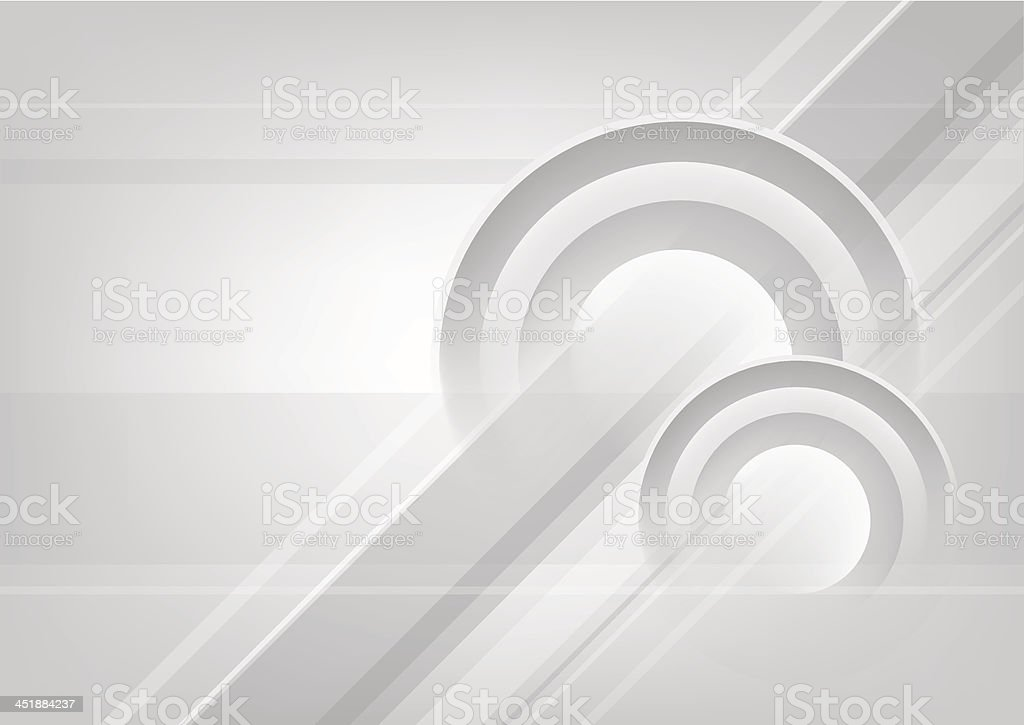 Abstract horizontal white and grey background with circles. royalty-free stock vector art
