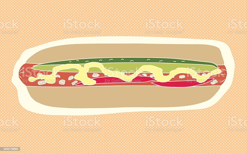 Abstract Hot Dog royalty-free stock vector art